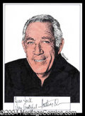 Autographs, Anthony Quinn Signed Original Artwork