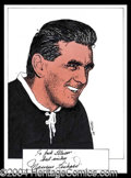 Autographs, Maurice Richard Signed Original Artwork