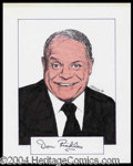 Autographs, Don Rickles Signed Original Artwork