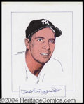 Autographs, Phil Rizzuto Signed Original Artwork
