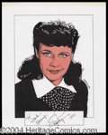 Autographs, Ginger Rogers Signed Original Artwork