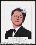 Autographs, Mickey Rooney Signed Original Artwork