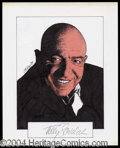 Autographs, Telly Savalas Signed Original Artwork