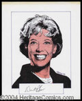 Autographs, Dinah Shore Signed Original Artwork