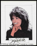 Autographs, Jaclyn Smith Signed Original Artwork