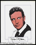 Autographs, Robert Stack Signed Original Artwork