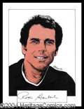 Autographs, Roger Staubach Signed Original Artwork