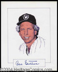 Autographs, Don Sutton Signed Original Artwork