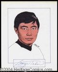 Autographs, George Takei Signed Original Artwork