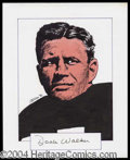 Autographs, Doak Walker Signed Original Artwork