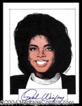 Autographs, Oprah Winfrey Signed Original Artwork