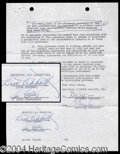 Autographs, Abbott and Costello Signed Contract