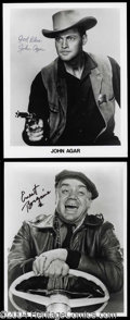 Autographs, Classic Actors Signed Photo Lot