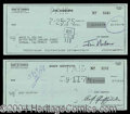 Autographs, The Andy Griffith Show Signed Check Lot