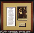 "Autographs, Roscoe ""Fatty"" Arbuckle Rare Signature"