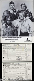 Autographs, The A-Team Cast Signed Studio Time Cards!
