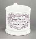 Political:3D & Other Display (pre-1896), George Washington: Early Patriotic Child's Souvenir Mug...