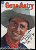 Autographs, Gene Autry Signed Vintage Comic Book