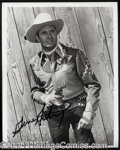 Autographs, Gene Autry Signed 8 x 10 Photograph