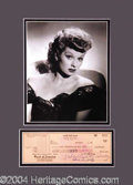 Autographs, Lucille Ball