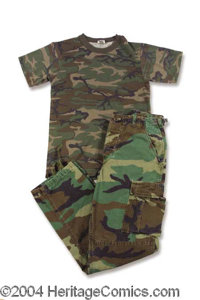 Drew Barrymore Charlie's Angels Screen Outfit - From the blockbuster hit film of 2000, here is a screen worn army fatigu...