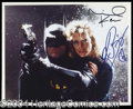 Autographs, Batman Keaton & Basinger Signed Photo