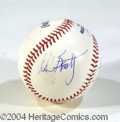 Autographs, Warren Beatty Annette Bening Signed Baseball