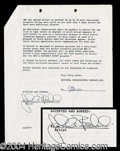Autographs, John Belushi Rare Signed SNL Contract