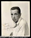 Autographs, Humphrey Bogart Signed 8 x 10 Photograph