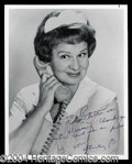 Autographs, Shirley Booth Signed Photo as Hazel