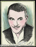 Autographs, George Brent Signed Sketch