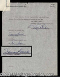 Autographs, Fanny Brice Rare Signed Contract