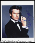 Autographs, Pierce Brosnan Signed 007 Photograph