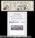 Autographs, Bugs Bunny Roger Armstrong Orig. Comic Strip