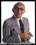 Autographs, George Burns Signed Color Photo