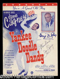 Autographs, James Cagney Signed Yankee Doodle Sheet Music
