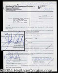 Autographs, John Candy Rare Signed Contract Agreement