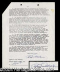Autographs, Al Capp Signed Contract Agreement