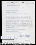 Autographs, Frank Capra Signed Contract Agreement