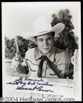 Autographs, Sunset Carson Signed 8 x 10 Photo Lot (2)