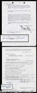 Autographs, Charlie's Angels Signed Contract Lot (4)