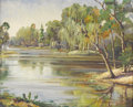 Texas:Early Texas Art - Impressionists, EMMA DILLARD (1879-1968). Untitled River Scene, 1930s - 1940s. Oilon canvas. 24in. x 30in.. Signed lower right. ...