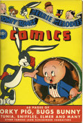 Golden Age (1938-1955):Humor, Looney Tunes and Merrie Melodies Comics #1-12 Bound Volume (Dell, 1941-42)....