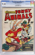 Golden Age (1938-1955):Funny Animal, Fawcett's Funny Animals #27 Crowley Copy/File Copy (Fawcett, 1945)CGC NM 9.4 Cream to off-white pages....