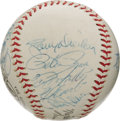 Autographs:Baseballs, 1969 National League All-Star Team Signed Baseball. The Nationalshad chased both Mel Stottlemyre and Blue Moon Odom from t...