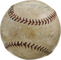 Autographs:Baseballs, 1920's Ruth, Gehrig, Cobb, Pennock & Combs Signed Baseball. Nota bad bunch of names, is it? One savvy fan of Golden Age ba...