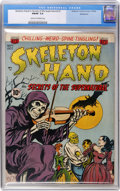 Golden Age (1938-1955):Horror, Skeleton Hand #1 Bethlehem pedigree (ACG, 1952) CGC FN/VF 7.0 Creamto off-white pages....