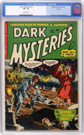 Golden Age (1938-1955):Horror, Dark Mysteries #12 Aurora pedigree (Master Publications, 1953) CGCVF- 7.5 Off-white pages....