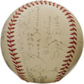 Autographs:Baseballs, 1934 St. Louis Cardinals Team Signed Baseball. Dizzy, Daffy and Dazzy (the Dean brothers and Vance, that is) make this high...