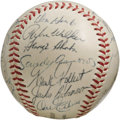 Autographs:Baseballs, 1955 Brooklyn Dodgers Team Signed Baseball. Exceptional high-gradesphere rates among the finest we've seen from this most ...